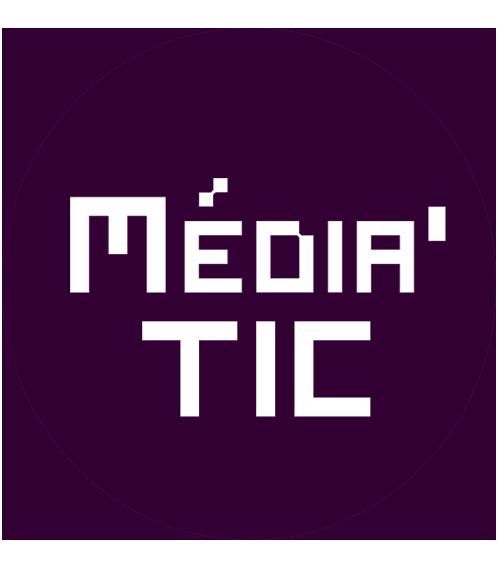 boutons média tic blanc